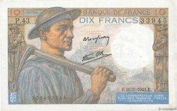 10 Francs MINEUR FRANCE  1943 F.08.08 SPL