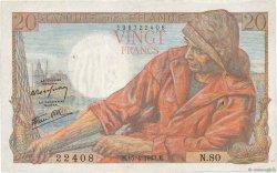 20 Francs PÊCHEUR FRANCE  1943 F.13.06 SUP+