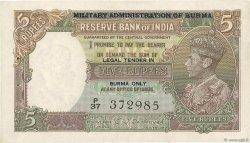 5 Rupees BIRMANIE  1945 P.26b SPL