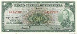 20 Bolivares VENEZUELA  1966 P.043e pr.NEUF
