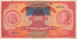 500 Korun SLOVAQUIE  1939 P.02s TTB
