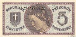 5 Korun SLOVAQUIE  1945 P.08s NEUF