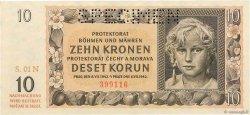 10 Korun BOHÊME ET MORAVIE  1942 P.08s