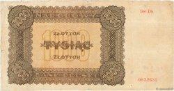 1000 Zlotych POLOGNE  1945 P.120 TB