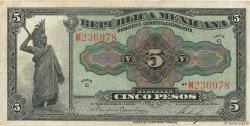 5 Pesos MEXIQUE  1915 PS.0685a TTB
