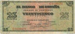 25 Pesetas ESPAGNE  1938 P.111 pr.TTB