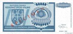 100000000 Dinara CROATIE  1993 P.R15s NEUF