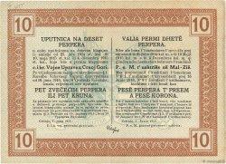 10 Perpera MONTENEGRO  1917 P.M.151 SUP+