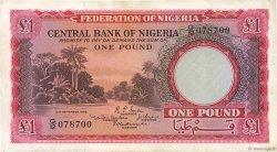 1 Pound NIGERIA  1958 P.04a TTB