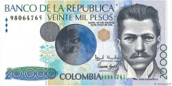 20000 Pesos COLOMBIE  1996 P.448a pr.NEUF