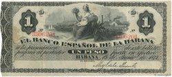 1 Peso CUBA  1872 P.027a TTB+