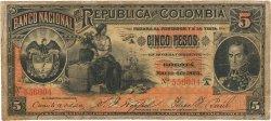 5 Pesos COLOMBIE  1895 P.235 TB