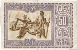 50 Pesetas ESPAGNE  1937 PS.564(h) TTB+