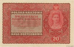 20 Marek POLOGNE  1919 P.026 pr.NEUF