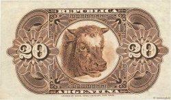20 Centavos ARGENTINE  1884 P.007a SUP