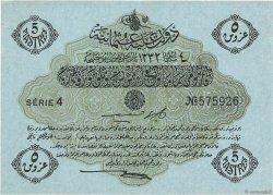 5 Piastres TURQUIE  1913 P.096 SUP