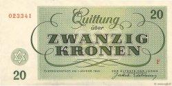 20 Kronen ISRAËL Terezin 1943 WW II.705 pr.NEUF