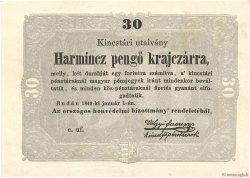 30 Pengo HONGRIE  1849 PS.122 SPL