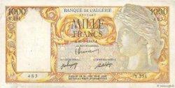 1000 Francs type 1946 Isis ALGÉRIE  1947 P.104 TTB
