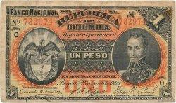 1 Peso COLOMBIE  1895 P.234 TB+
