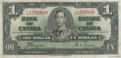 1 Dollar CANADA  1937 P.058e TTB