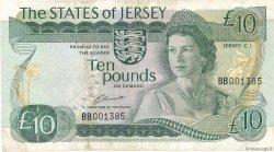 10 Pounds JERSEY  1976 P.13a TB