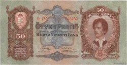 50 Pengö HONGRIE  1932 P.099 pr.NEUF