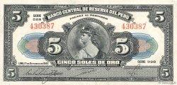 5 Soles PÉROU  1947 P.066Ac TTB