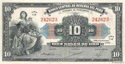 10 Soles PÉROU  1947 P.067Ac TTB