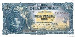 10 Pesos Oro COLOMBIE  1961 P.400c NEUF