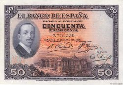 50 Pesetas ESPAGNE  1927 P.072a SUP