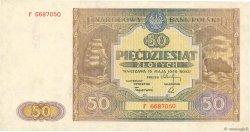 50 Zlotych POLOGNE  1946 P.128 TTB