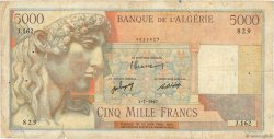5000 Francs ALGÉRIE  1947 P.105 B