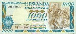 1000 Francs RWANDA  1988 P.21 NEUF