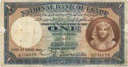 1 Pound ÉGYPTE  1942 P.022c B+