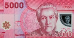 5000 Pesos CHILI  2009 P.163 NEUF