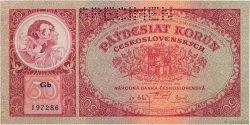 50 Korun TCHÉCOSLOVAQUIE  1929 P.022s NEUF
