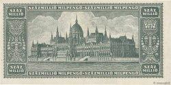 100000000 Milpengö HONGRIE  1946 P.130 TTB+