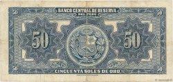 50 Soles PÉROU  1951 P.072a TTB