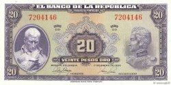 20 Pesos Oro COLOMBIE  1951 P.392d NEUF