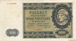 500 Zlotych POLOGNE  1940 P.098 TTB