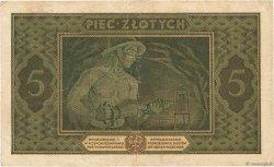 5 Zlotych POLOGNE  1926 P.049 TTB