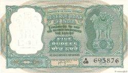 5 Rupees INDE  1957 P.035b SPL