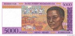 5000 Francs - 1000 Ariary MADAGASCAR  1994 P.78b SPL