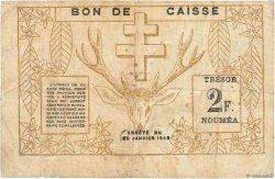 2 Franc NOUVELLE CALÉDONIE  1943 P.56b TB