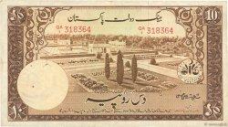 10 Rupees PAKISTAN  1951 P.13 TB