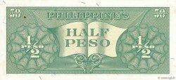 1/2 Peso PHILIPPINES  1949 P.131a SPL