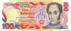100 Bolivares VENEZUELA  1980 P.059a pr.NEUF