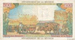 10 NF sur 500 Francs Pointe à Pitre ÎLE DE LA RÉUNION  1971 P.54b TB+