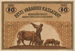 10 Marka ESTONIE  1919 P.46c TTB